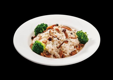 白醬野菇飯